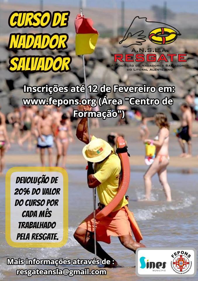 Curso De Nadador Salvador Sines Junta De Freguesia De Vila Nova De Milfontes